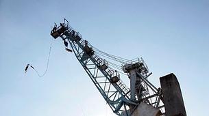 Bungee Jumping-Hamburg-Bungee jump from the harbor crane in Hamburg-6