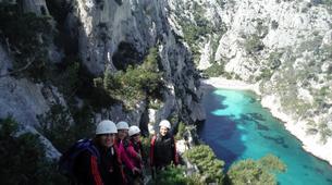 Rock climbing-Calanques-Via Cordata at En Vau in the Calanques National Park, Marseille-3