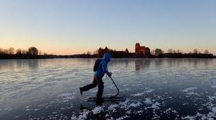 Snowshoeing-Trakai-Kicksledding Excursion in Trakai National Park-2