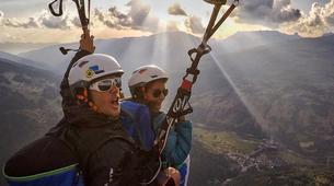 Paragliding-La Plagne, Paradiski-Tandem paragliding in La Plagne, Alps-2