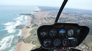 Helicoptère-Biarritz-Baptême de l'air en hélicoptère à Biarritz, Pays Basque-1