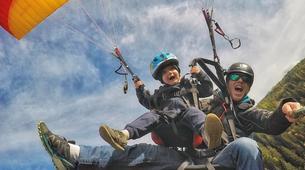 Paragliding-La Plagne, Paradiski-Tandem paragliding in La Plagne, Alps-4