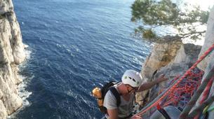 Rock climbing-Calanques-Via Cordata at En Vau in the Calanques National Park, Marseille-4