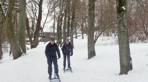 Snowshoeing-Trakai-Kicksledding Excursion in Trakai National Park-3