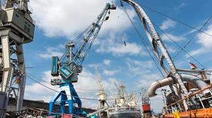 Bungee Jumping-Hamburg-Bungee jump from the harbor crane in Hamburg-5