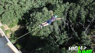Bungee Jumping-Madrid-Puenting from Buitrago Bridge near Madrid-1