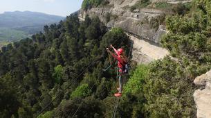 Via Ferrata-Centelles-Via ferrata in 'Les Baumes Corcades' near Barcelona-2