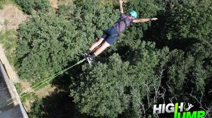 Bungee Jumping-Madrid-Puenting from Buitrago Bridge near Madrid-5