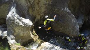 Canyoning-Sierra de las Nieves Natural Park-Canyoning at Zarzalones Gorge in Sierra de las Nieves Natural Park-3