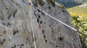 Canyoning-Pyrénées Orientales-Via Ferrata de St Paul de Fenouillet et Canyon de Galamus-5