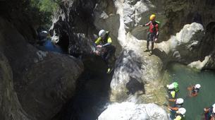 Canyoning-Sierra de las Nieves Natural Park-Canyoning at Zarzalones Gorge in Sierra de las Nieves Natural Park-6