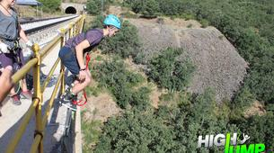 Bungee Jumping-Madrid-Puenting from Buitrago Bridge near Madrid-3