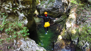 Canyoning-Bled-Grmečica Waterfall Canyon, near Bled-1