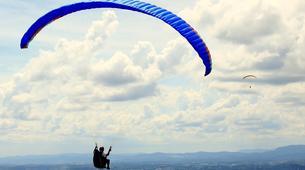 Paragliding-Madrid-Tandem paragliding flight in La Muela near Madrid-2