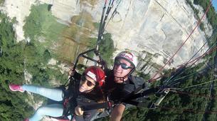 Paragliding-Grenoble-Tandem paragliding flight over Saint Hilaire du Touvet, Grenoble-1