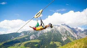 Tyrolienne-Saalfelden Leogang-Flying Fox XXL in Leogang, Salzburger Land-2