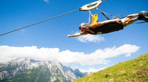 Tyrolienne-Saalfelden Leogang-Flying Fox XXL in Leogang, Salzburger Land-5