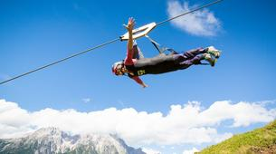 Zip-Lining-Saalfelden Leogang-Flying Fox XXL in Leogang, Salzburger Land-1