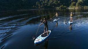 Stand up Paddle-Franz Josef Glacier-SUP excursion on Lake Mapourika near Franz Josef Glacier-5