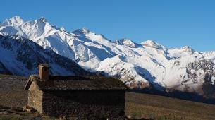 Snowshoeing-Bagnères-de-Luchon-Snowshoes Hiking in Pyrenees mountains-3