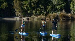 Stand up Paddle-Franz Josef Glacier-SUP excursion on Lake Mapourika near Franz Josef Glacier-4