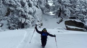 Snowshoeing-Bagnères-de-Luchon-Snowshoes Hiking in Pyrenees mountains-2