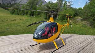 Microlight flying-Chamonix Mont-Blanc-Microlight helicopter flight in Chamonix Mont Blanc-1