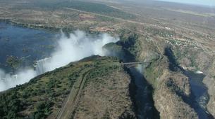 Microlight flying-Victoria Falls-Microlight flight over the falls-1