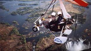 Microlight flying-Victoria Falls-Microlight flight over the falls-2