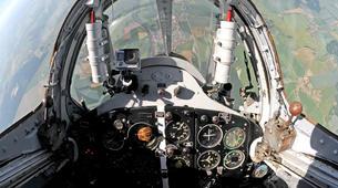 Air Experiences-Pilsen-Jet fighter flight (MiG-15) over Pilsen, Czech Republic-2