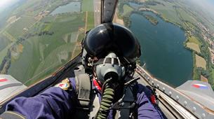 Air Experiences-Pilsen-Jet fighter flight (MiG-15) over Pilsen, Czech Republic-3