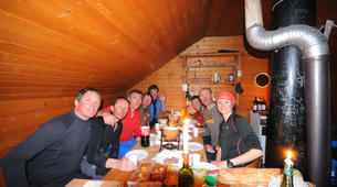 Snowshoeing-Vars, La Forêt Blanche-Snowshoeing hike and fondue in a shepherd hut in Vars-3