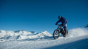 Fat Bike-Les Sybelles-VTT de descente sur neige à Saint-Sorlin d'Arves, Les Sybelles-5