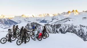 Fat Bike-Les Sybelles-VTT de descente sur neige à Saint-Sorlin d'Arves, Les Sybelles-1