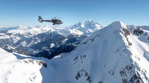 Helicoptère-Courchevel, Les Trois Vallées-Vol panoramique partagé en hélicoptère dans les Alpes depuis Courchevel-1