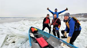 Kayaking-Quebec-Ice Canoe Initiation in Quebec-7