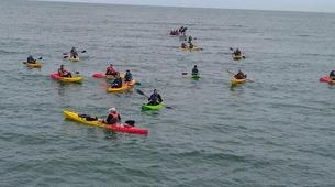 Kayak de mer-Omaha Beach-Randonnée en kayak de mer le long des falaises d'Omaha Beach, Normandie-1