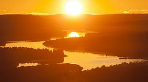 Kajak-Rovaniemi-Canoeing under the Midnight Sun near Rovaniemi, Finland-3