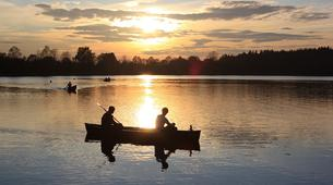 Kajak-Rovaniemi-Canoeing under the Midnight Sun near Rovaniemi, Finland-1