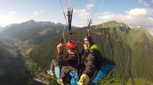 Paragliding-Morzine, Portes du Soleil-Tandem paragliding flight in Morzine - Avoriaz-2