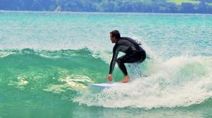 Surfing-Matakana-Beginner's surfing lessons on the Matakana coast, New Zealand-2