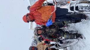 VTT-Saint-Lary-Soulan-Descente sur neige en trottinette tout terrain à Saint Lary Soulan-4