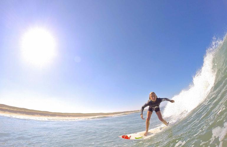 Coaching pro à Biarritz avec la surfeuse Emmanuelle Joly