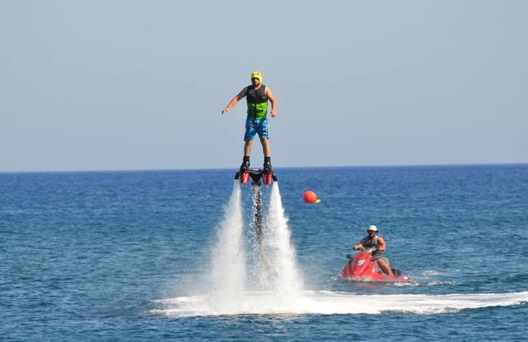 Flyboarding session in Santorini