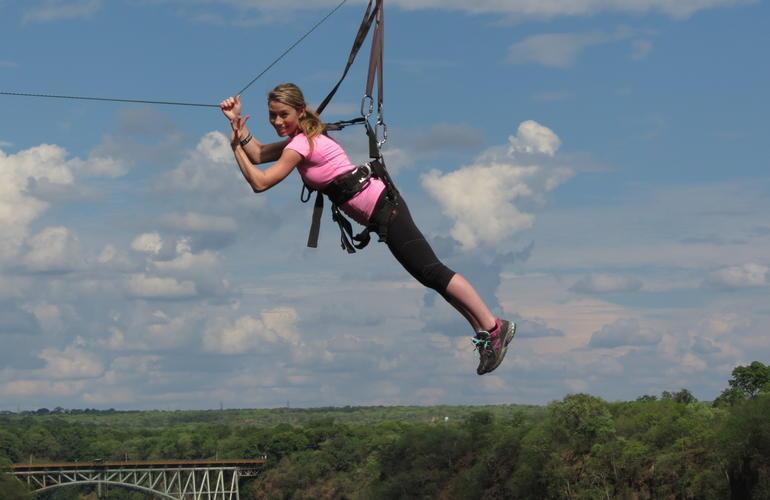 Flying Fox Zipline In Victoria Falls