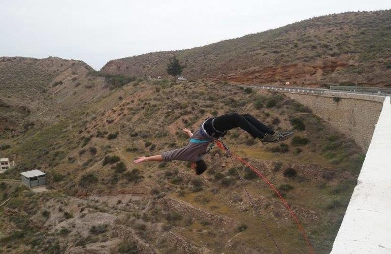 Rope swinging from 35 metres in Gador, Almeria