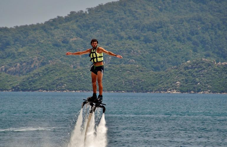 flyboard, Santorini, Greece