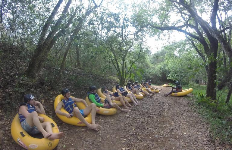 Tubing down Sabie River near Kruger National Park