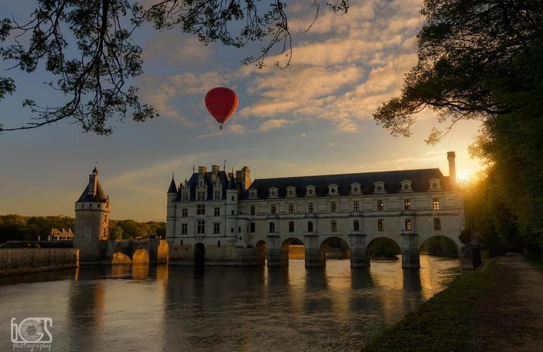 montgolfière à Chenonceaux