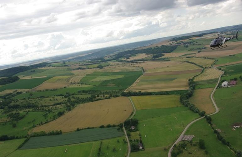 Scenic helicopter flight in Rodez